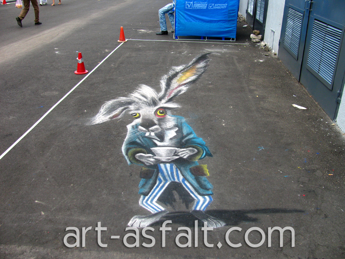 3D рисунок Мартовский заяц