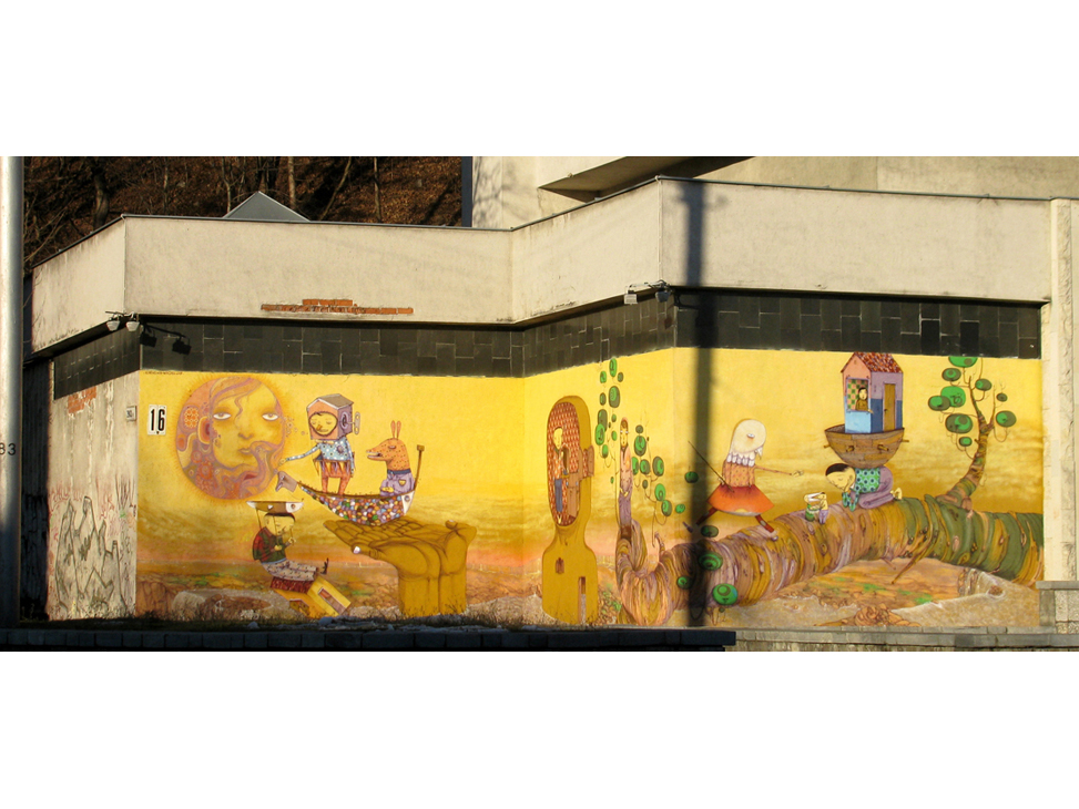 Рисунок на здании Каунас