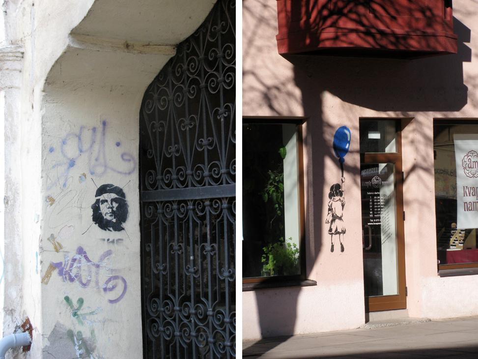 Трафаретное граффити Каунас