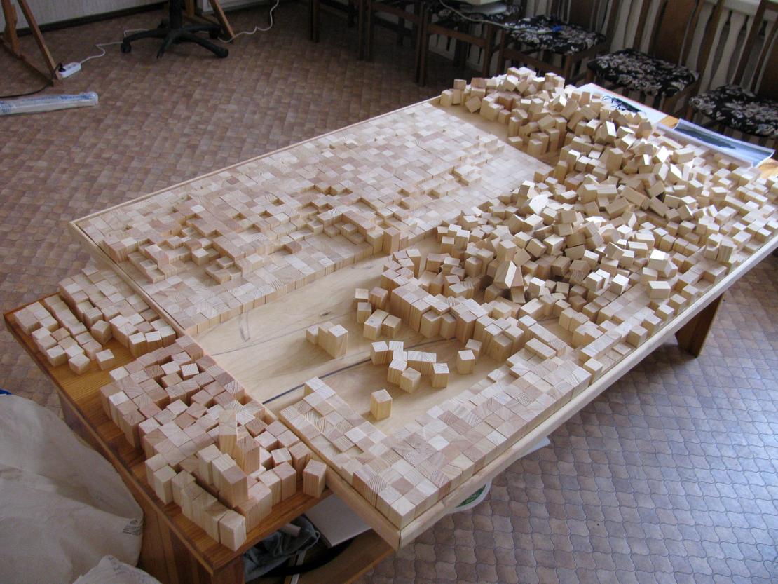Начало собирания мозаики