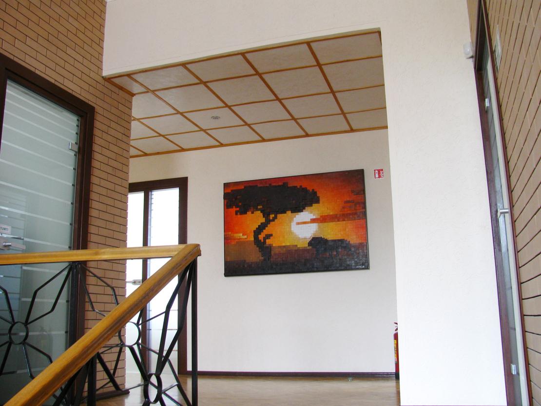 Мозаика Африка в офисе