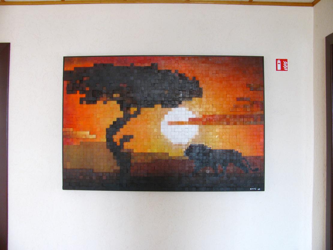 Мозаика Африка на стене