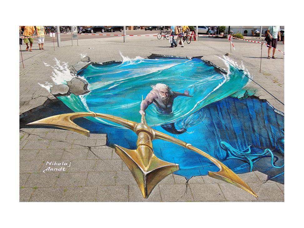 Нептун - 3D рисунок Николай Арндт