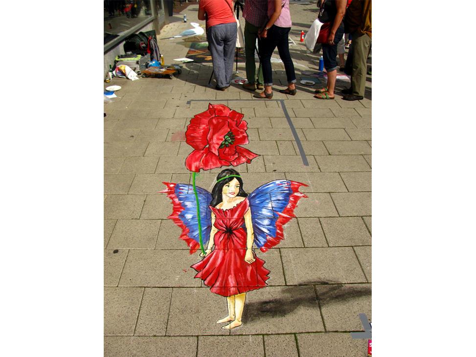 3D Poppy flower fairy